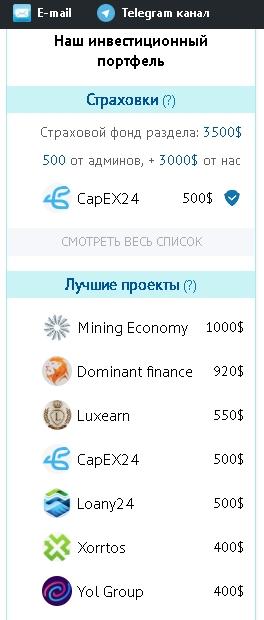 Инвестиционный портфель BestInvestor