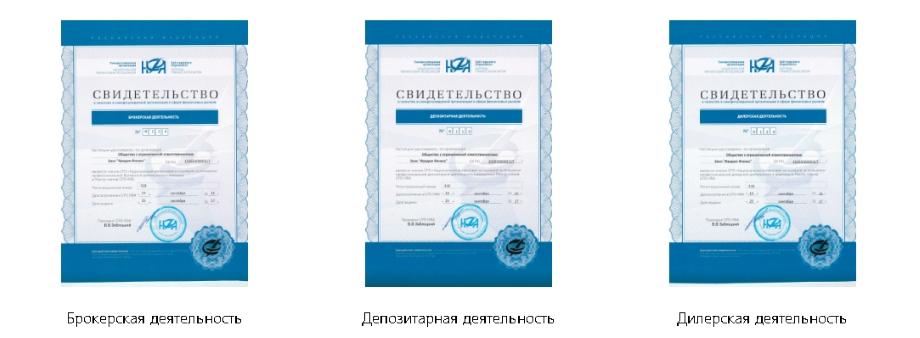 Лицензии Фридом Финанс