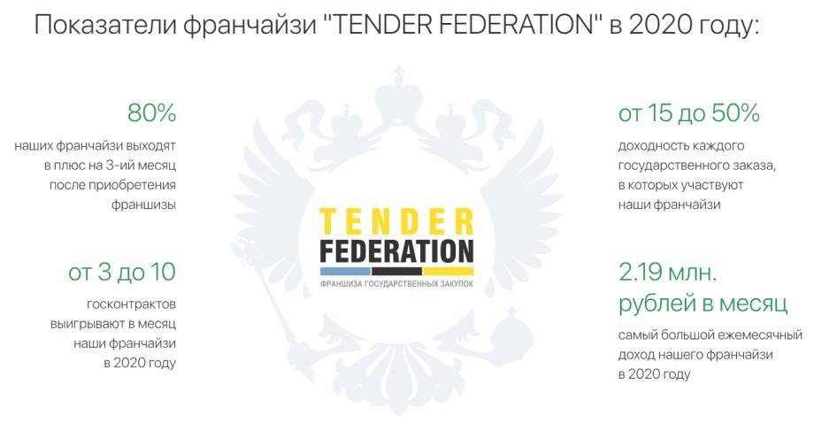 Франшиза Tender Federation - показатели